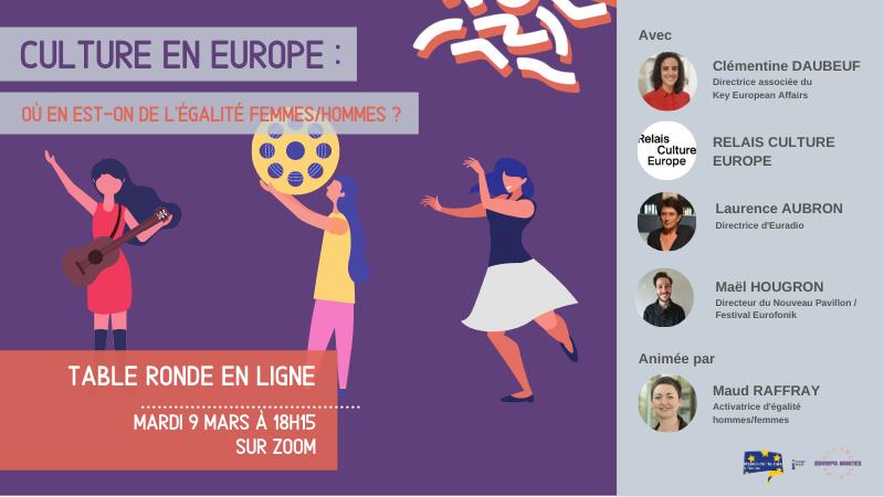REPLAY – Culture en Europe : où en est-on de l'égalité femmes/hommes ?