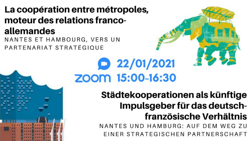 Journée Franco-allemande : La coopération Nantes/Hambourg, d'une relation d'amitié à un partenariat stratégique