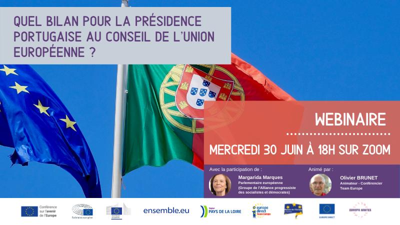 Webinaire : Quel bilan pour la Présidence portugaise au Conseil de l'Union européenne ?