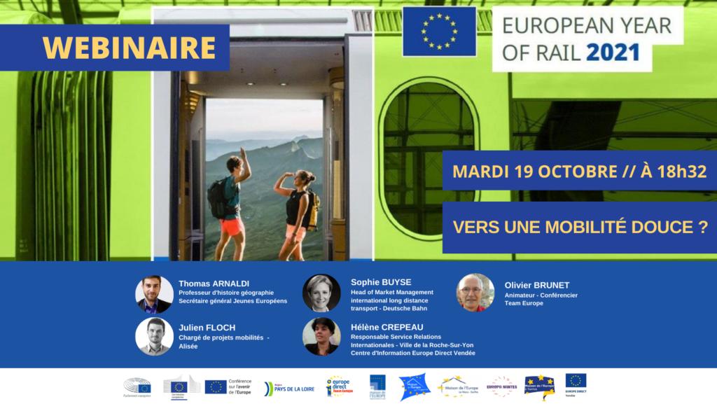 REPLAY WEBINAIRE – Année européenne du rail : Vers une mobilité douce ?